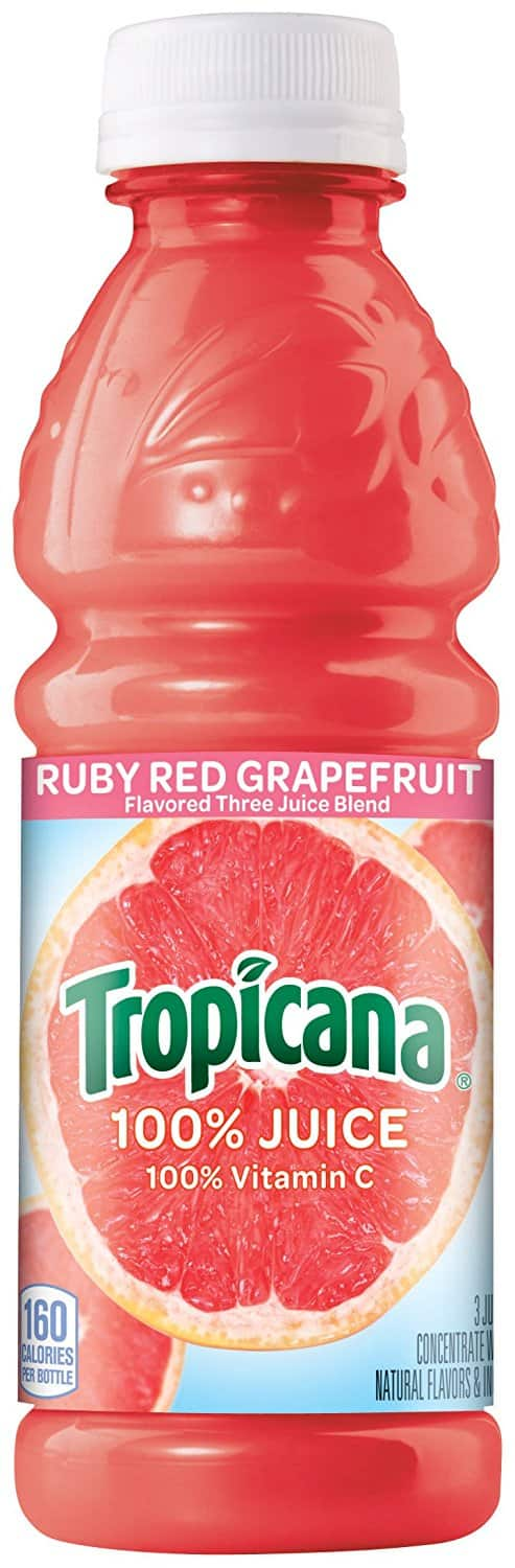 24-Pack of 10oz Tropicana Ruby Red Grapefruit Juice $9.90 or Less w/ S&S + Free Shipping ~ Amazon