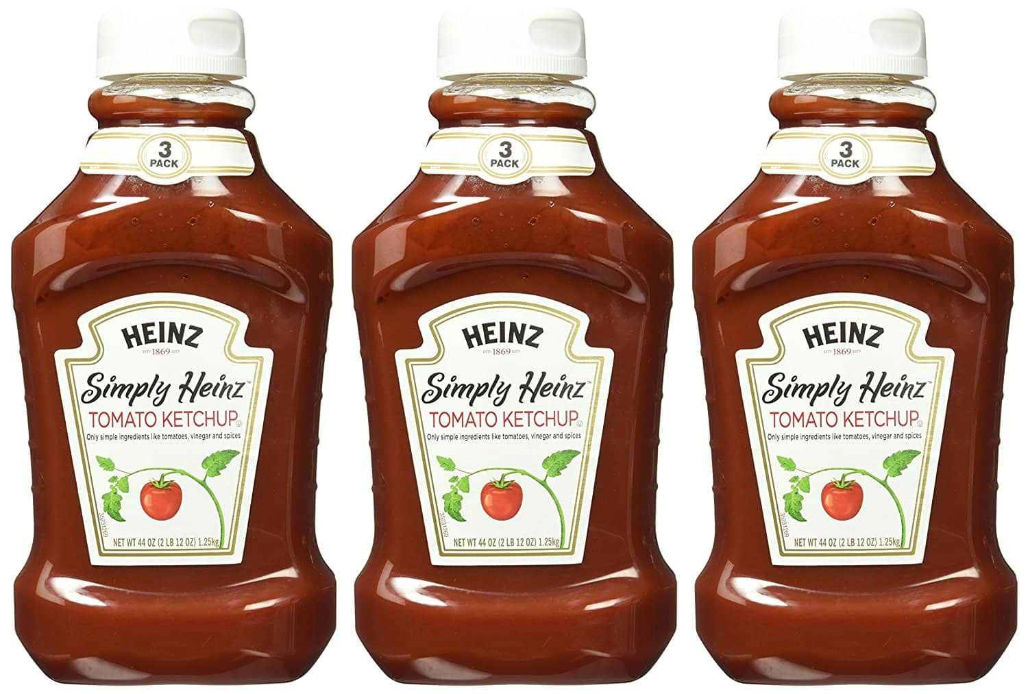 3-Pack of 44oz Simply Heinz Tomato Ketchup $7.88 or Less w/ S&S + Free Shipping ~ Amazon