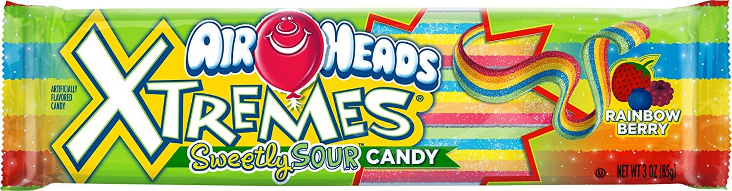 12-Pack of 3oz Airheads Xtremes Sour Candy (Rainbow Berry) $6.49 or Less w/ S&S + Free Shipping ~ Amazon
