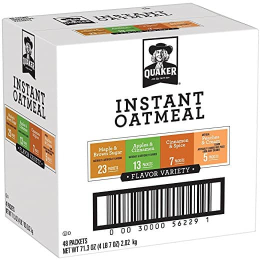 Prime Members: 48-Count Quaker Instant Oatmeal Variety Pack $7.19 or Less w/ S&S + Free Shipping ~ Amazon