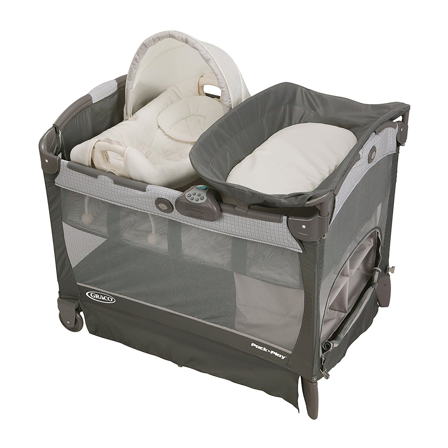 Graco Pack 'N Play Playard with Cuddle Cove Removable Seat (Glacier) $84.78 + Free Shipping