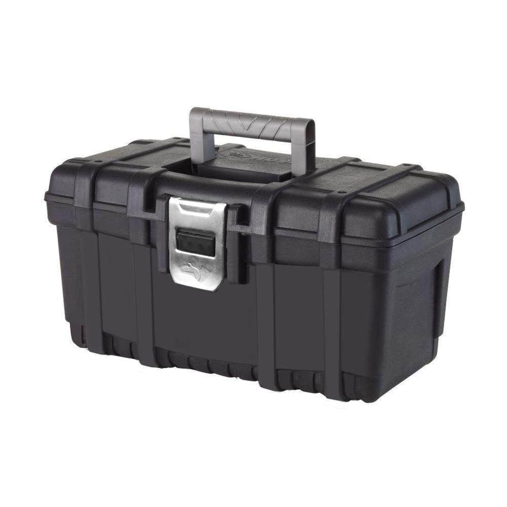 "Husky 16"" Plastic Tool Box w/ Metal Latch $4.88 + Free Store Pickup ~ Home Depot"
