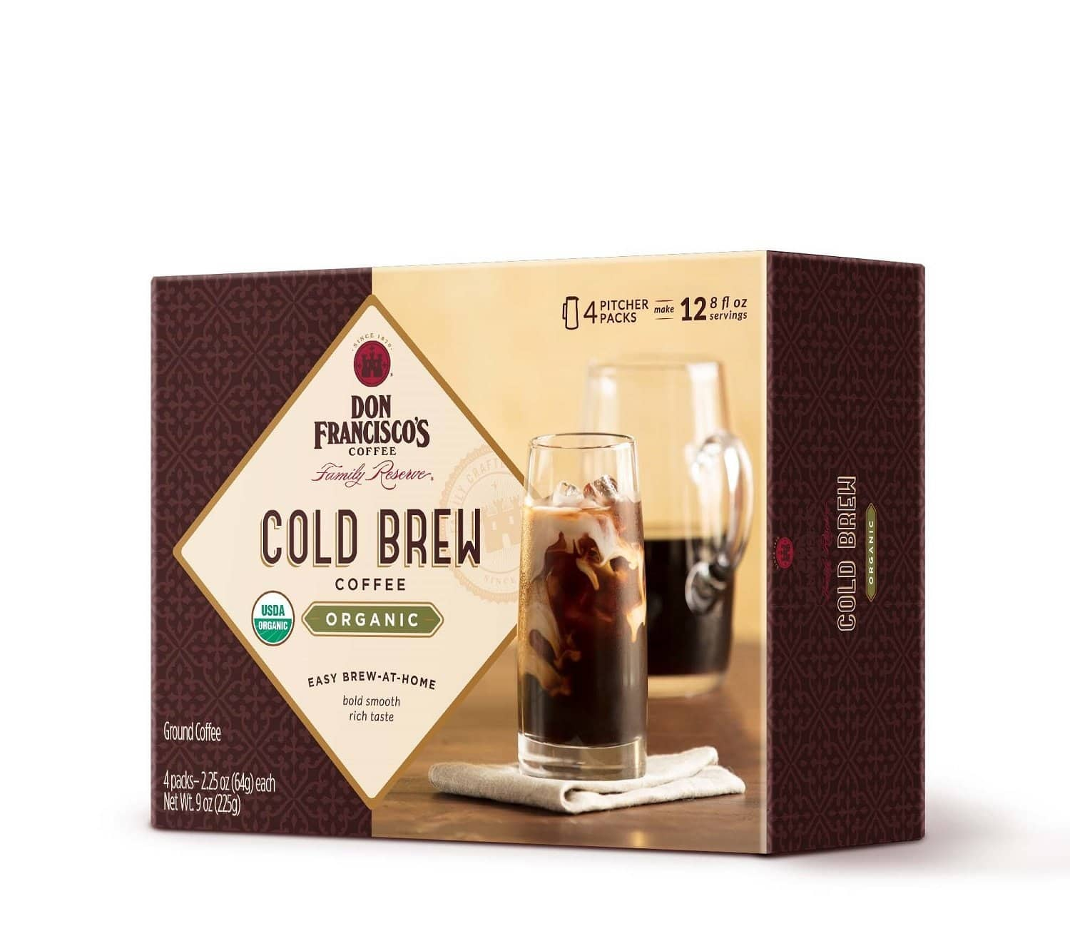 4-Count Don Francisco's Cold Brew Coffee Pitcher Packs $5.84 or Less w/ S&S + Free Shipping ~ Amazon