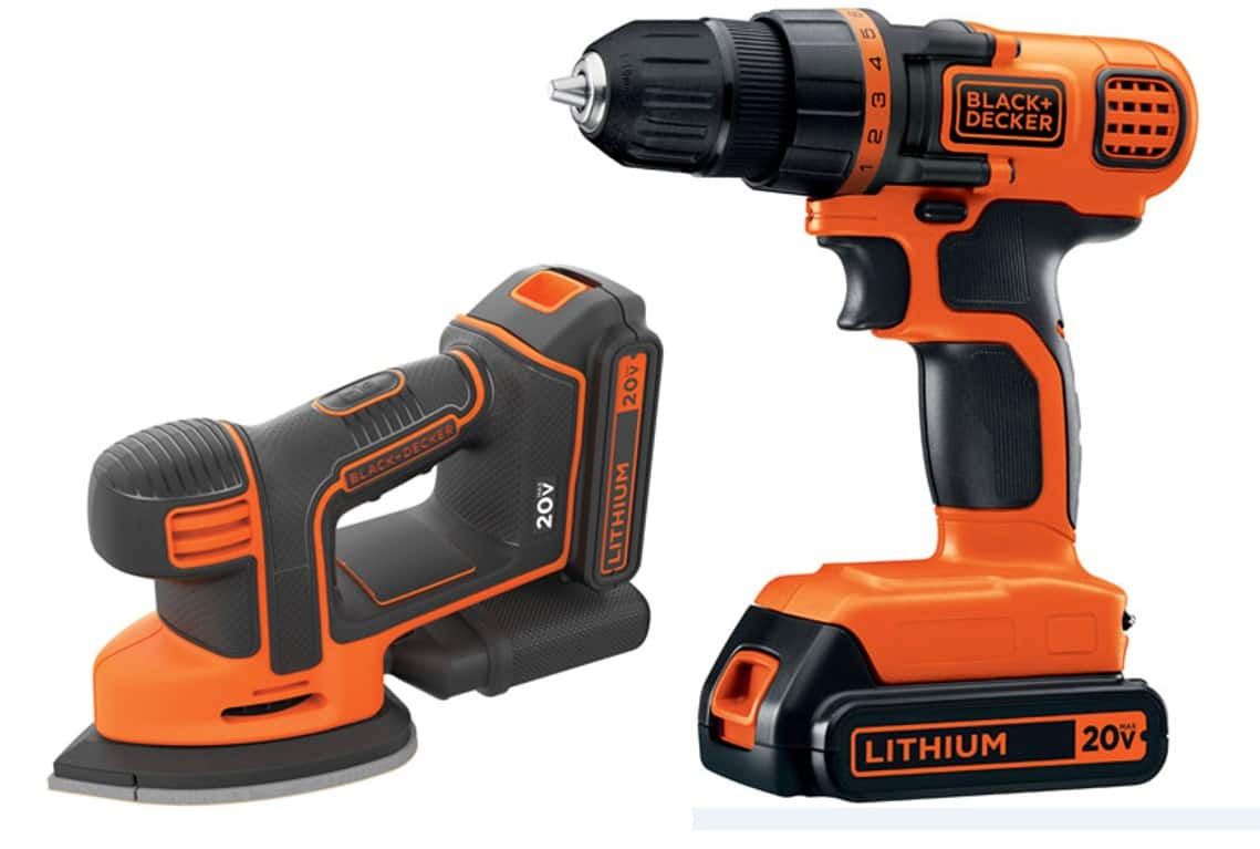 Black+Decker 20V Max Cordless Drill & Mouse Sander Combo Kit $39.98 + Free Shipping ~ Walmart
