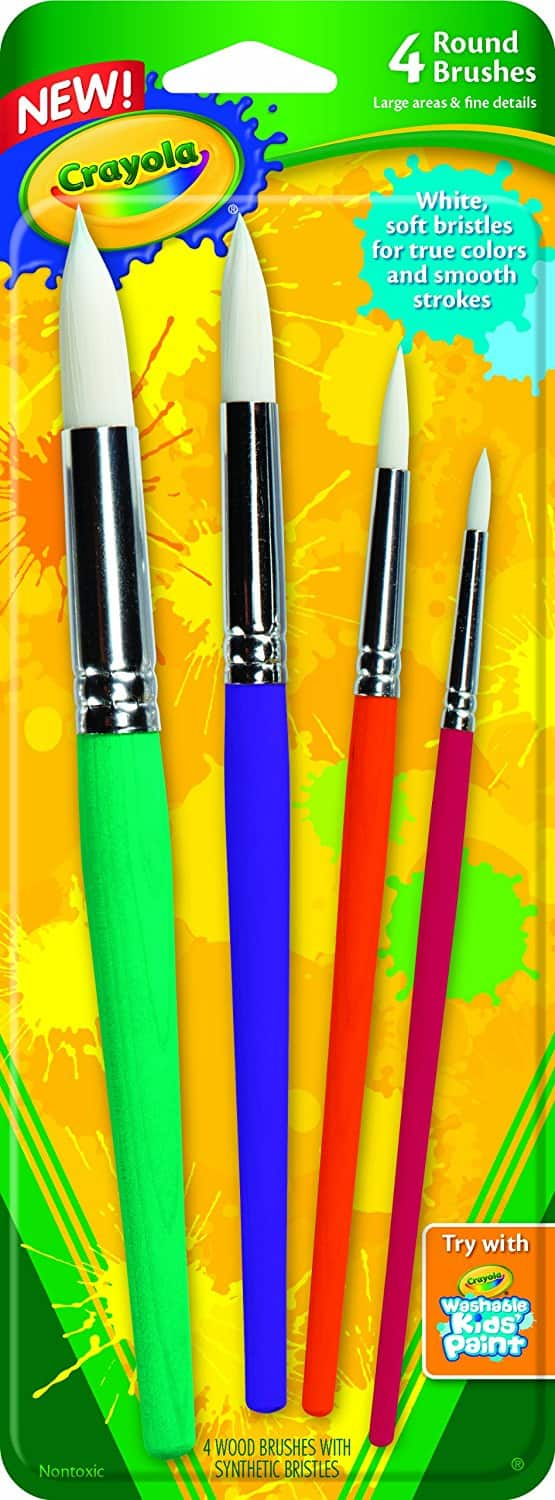 add on item 4 count crayola big paint brushes 1 amazon. Black Bedroom Furniture Sets. Home Design Ideas