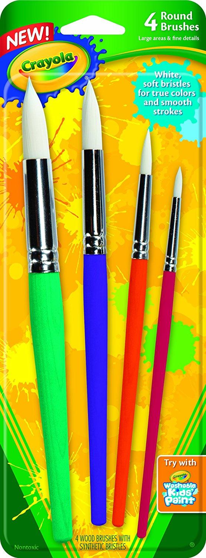 Add-on Item: 4-Count Crayola Big Paint Brushes $1 ~ Amazon