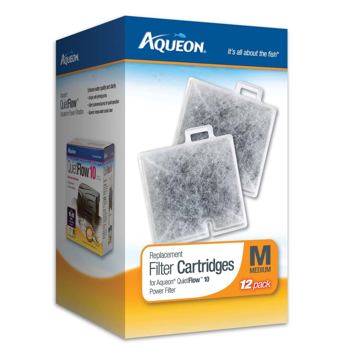 12-Pack Aqueon Replacement Aquarium Filter Cartridges (Medium) $11.58 or Less w/ S&S + Free Shipping ~ Amazon