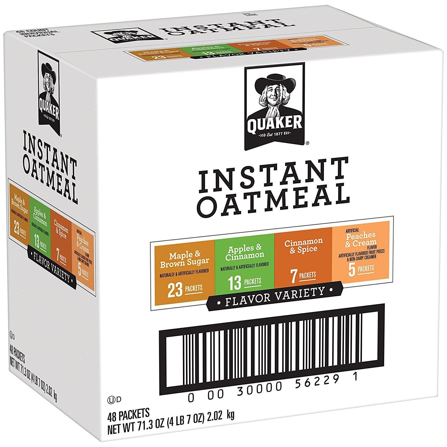 48-Count Quaker Instant Oatmeal Variety Pack $6.41 or Less w/ S&S + Free Shipping ~ Amazon