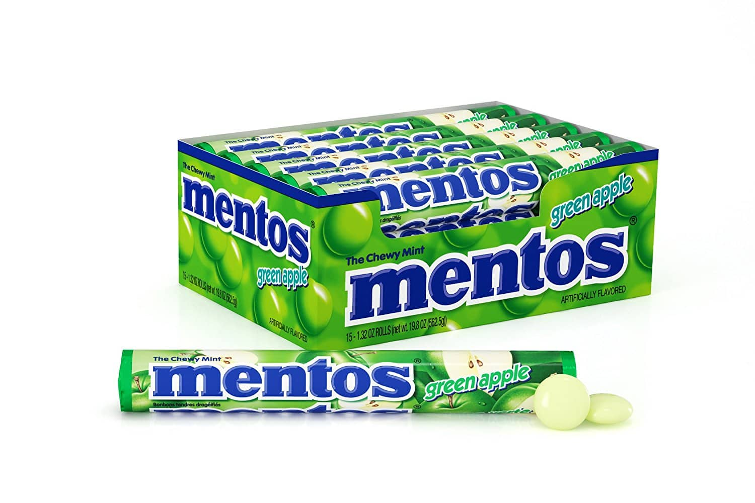 15-Pack of 1.32oz Mentos Chewy Mint Candy Roll (Green Apple) $6.45 or Less w/ S&S & More + Free Shipping ~ Amazon