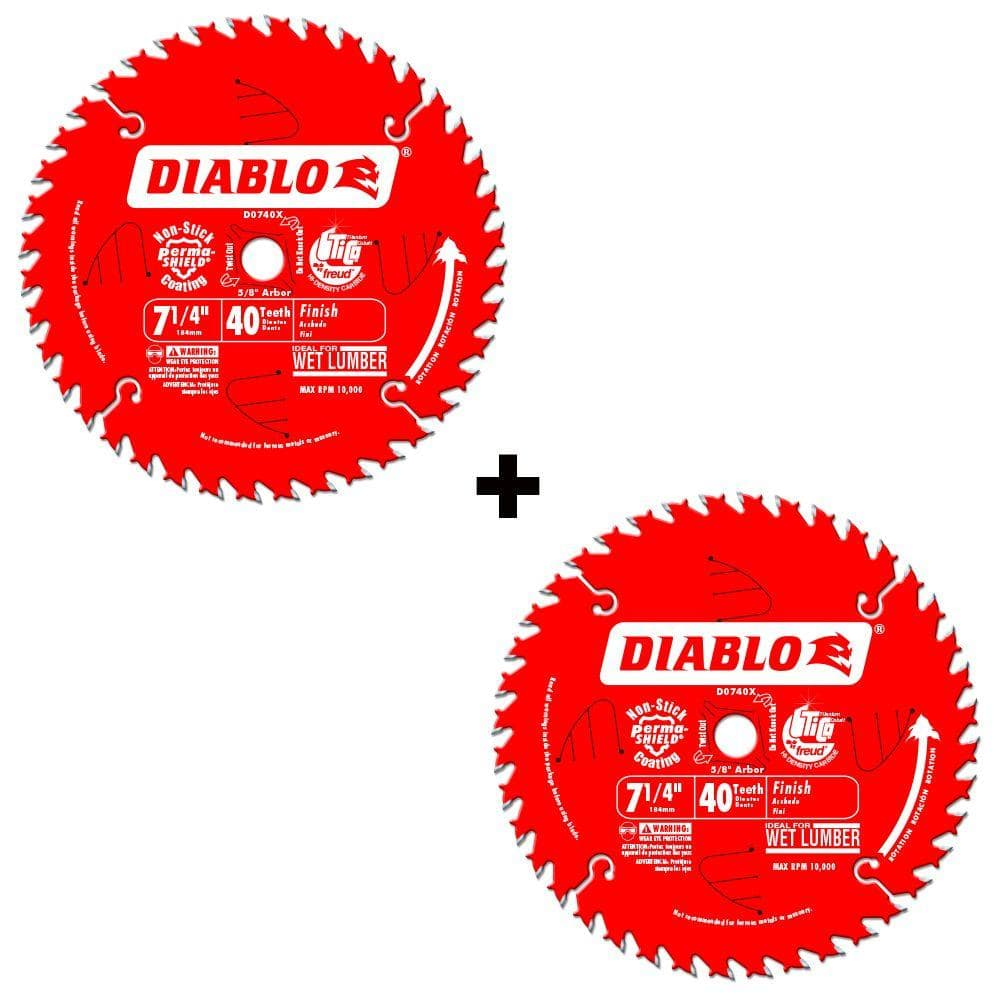2 Pack Diablo 7 14 40 Tooth Finish Saw Blade Slickdealsnet