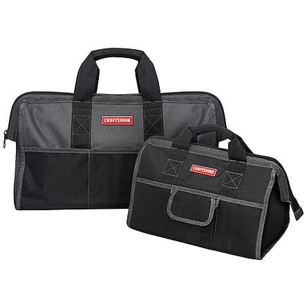 "Craftsman 16"" & 20"" Tool Bag Combo $12.39 + Free Store Pickup ~ Sears"