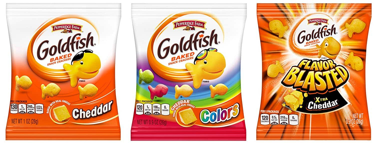 40-Count Pepperidge Farm Goldfish Crackers Variety Pack $8.29 or Less w/ S&S + Free Shipping ~ Amazon