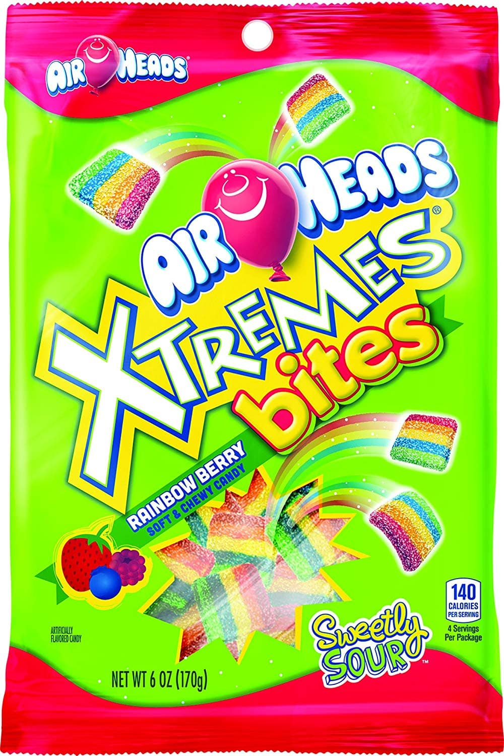 12-Pack of 6oz Airheads Xtremes Bites (Rainbow Berry) $8.05 or Less w/ S&S & More + Free Shipping ~ Amazon