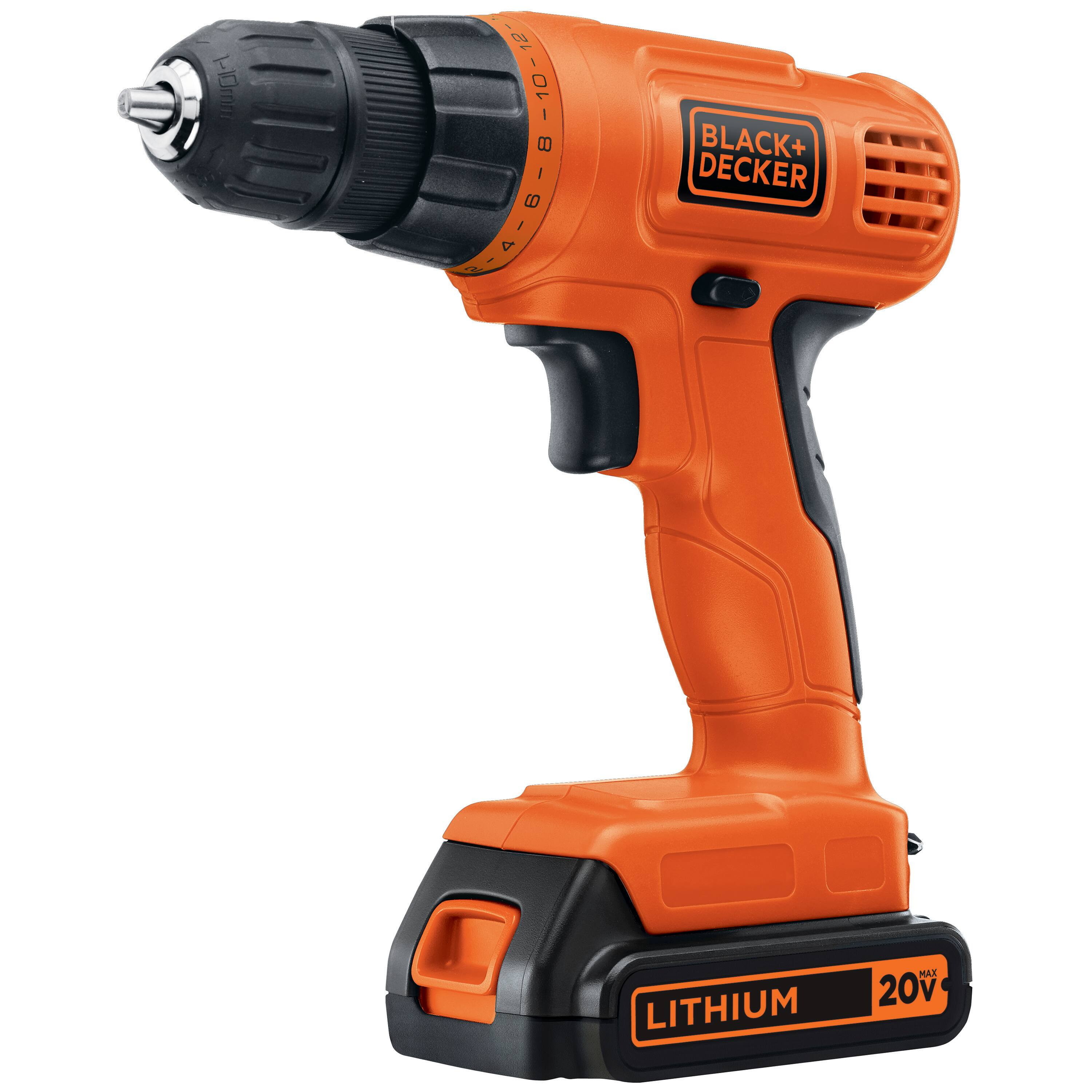 Black+Decker 20-Volt Max Lithium-Ion Cordless Drill w/ Battery $29.97 + Free Store Pickup ~ Walmart