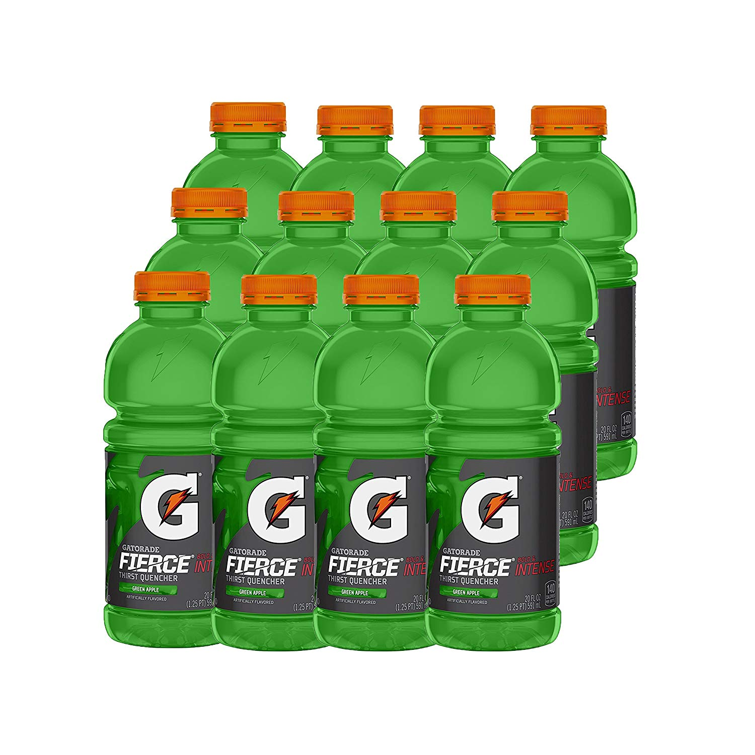 12-Pack of 20oz Gatorade Fierce Sports Drink (Green Apple) $5.62 or Less w/ S&S + Free Shipping ~ Amazon