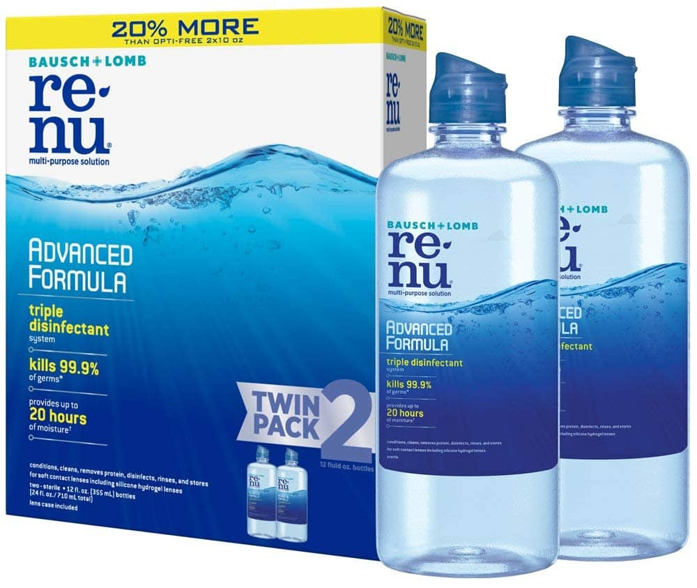 2-Pack of 12oz Bausch + Lomb ReNu Contact Lens Solution $9.22 or Less w/ S&S & More + Free Shipping ~ Amazon