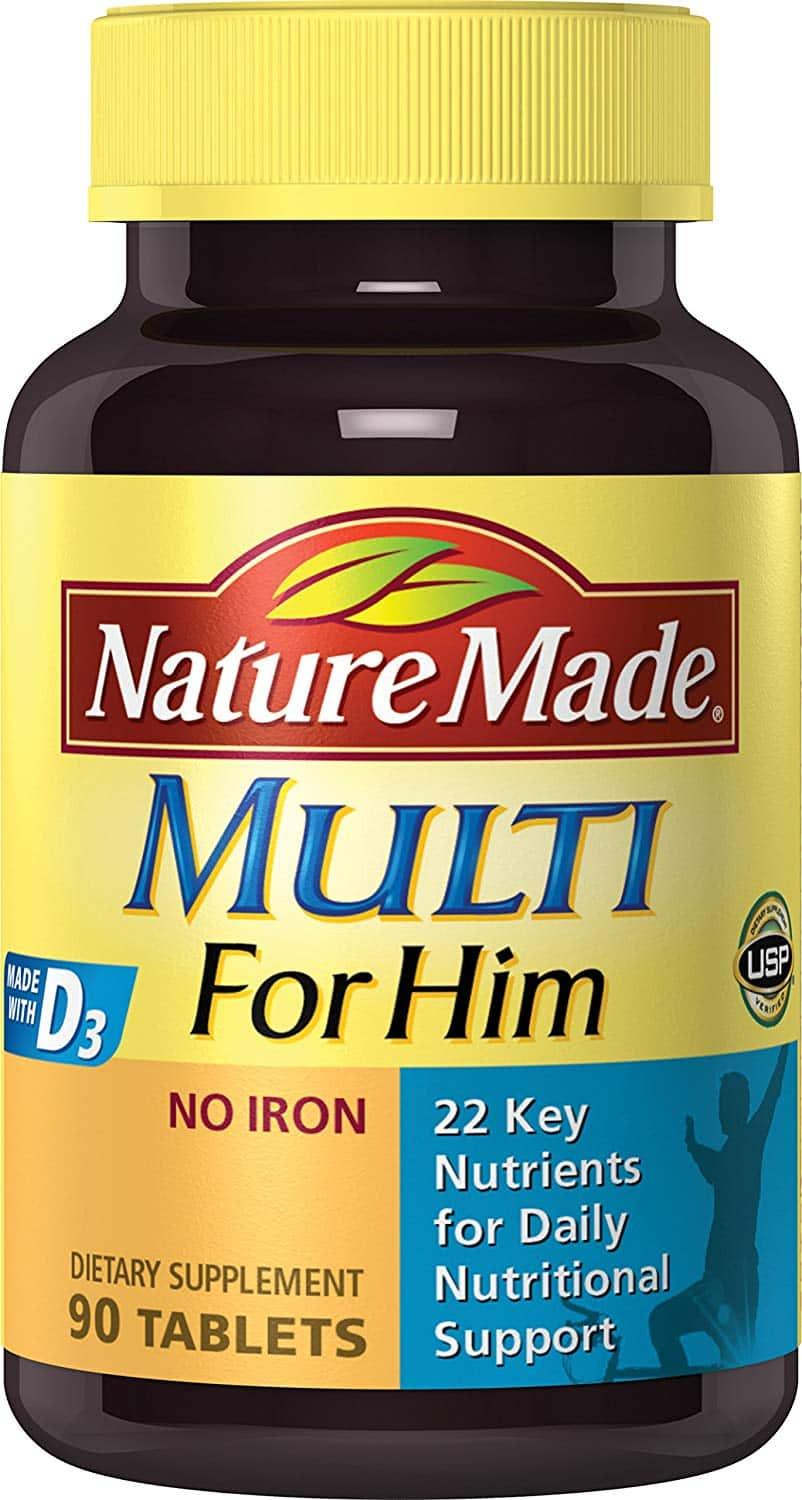90-Count Nature Made Multi for Him Tablets w/ D3 $2.69 or Less w/ S&S + Free Shipping ~ Amazon