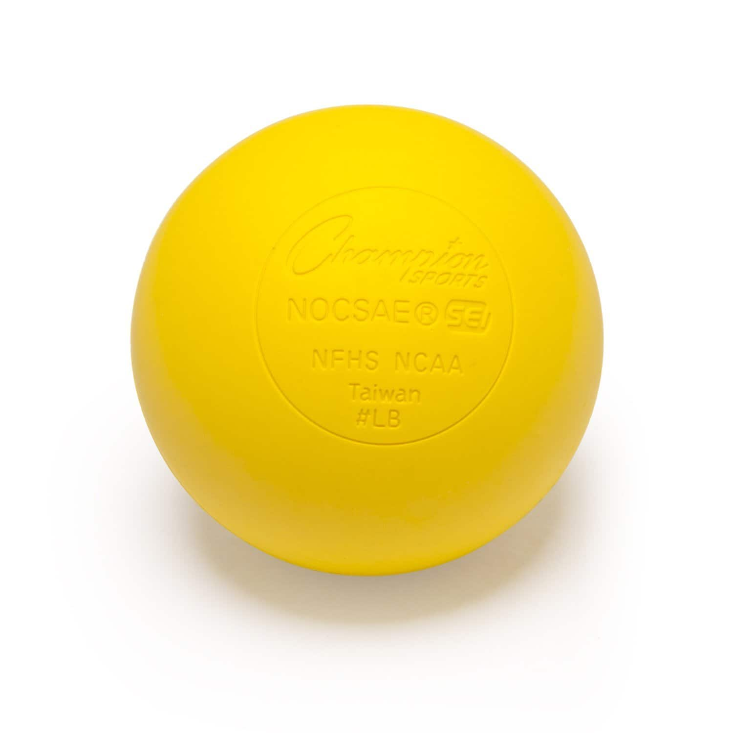 12-Pack Champion Sports Official Lacrosse Balls (Yellow) $12.25 w/ S&S or Prime + Free S&H ~ Amazon