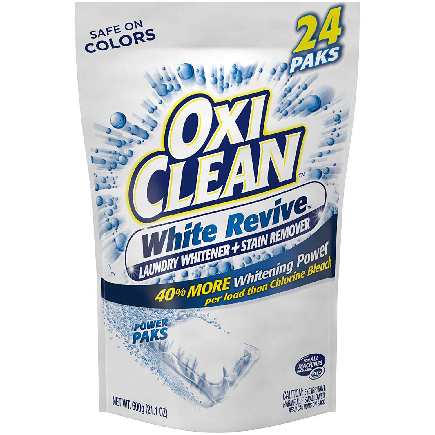 24-Count OxiClean White Revive Laundry Stain Remover Power Paks $3.98 or Less w/ S&S + Free Shipping ~ Amazon