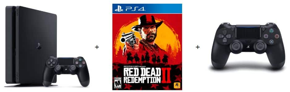 1TB PlayStation 4 Slim Console w/ Red Dead Redemption 2 +