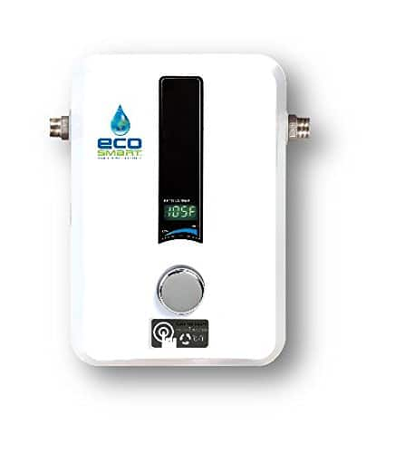 ecosmart electric tankless water heaters: eco 27 $335, eco 11