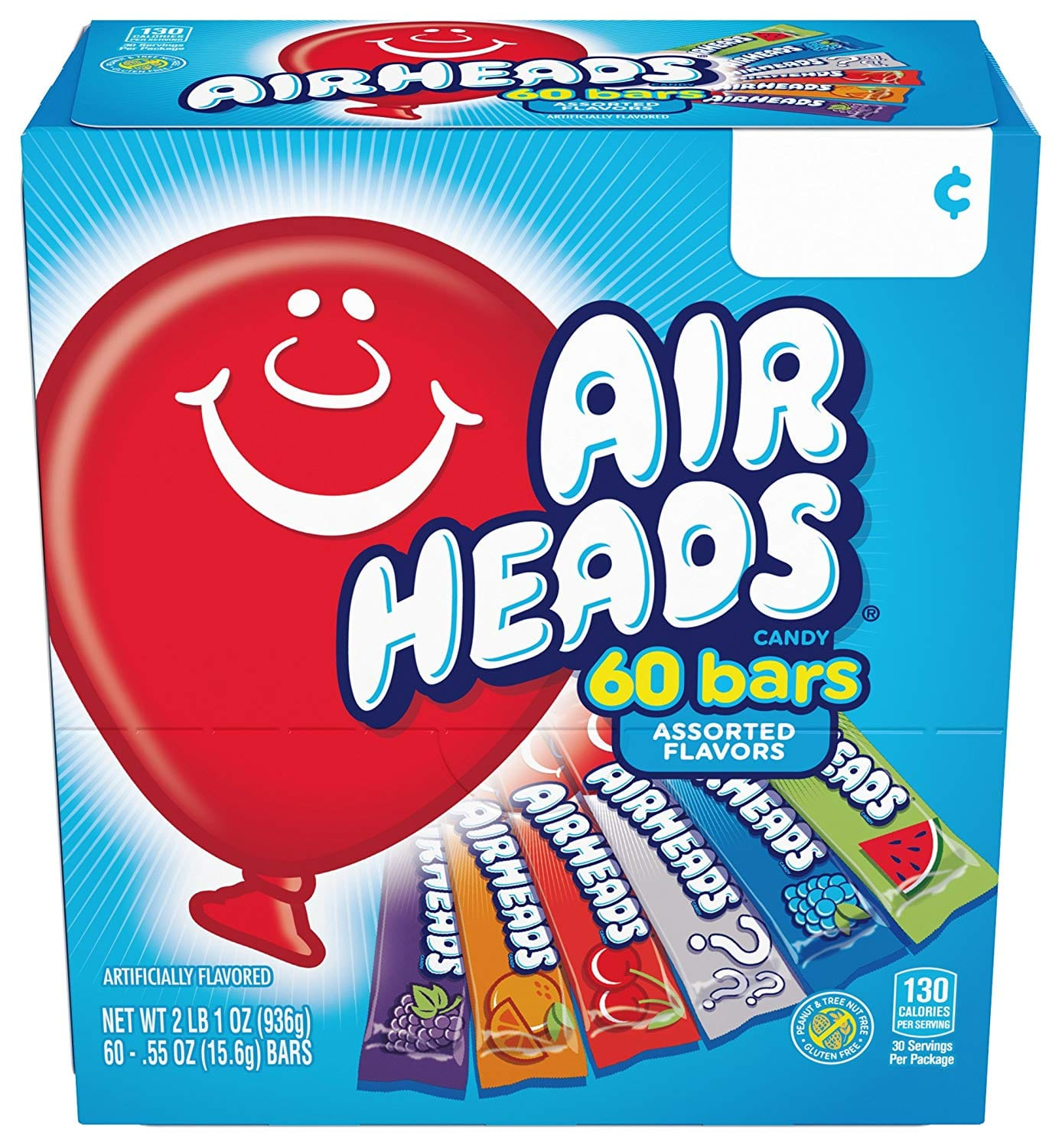 60-Pack of 0.55oz Airheads Candy Bars (Variety Pack) $5.31 or Less w/ S&S + Free Shipping ~ Amazon