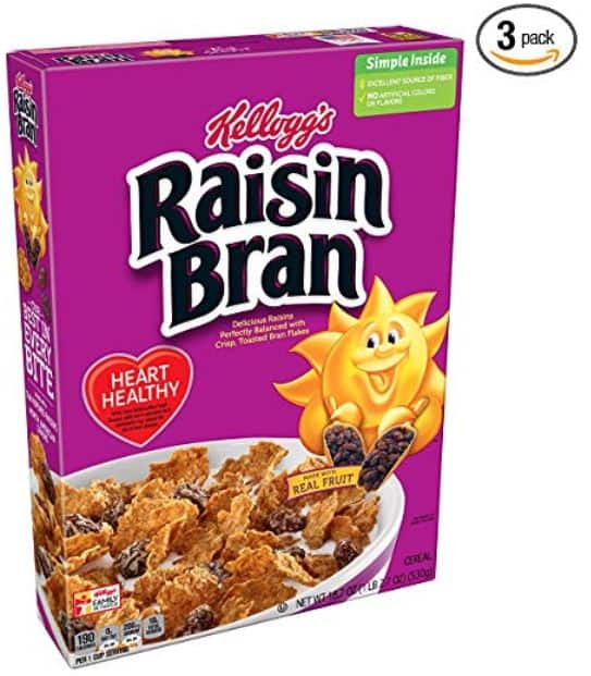 3-Pack of 18.7oz Kellogg's Raisin Bran Cereal $6.09 or Less w/ S&S + Free Shipping ~ Amazon