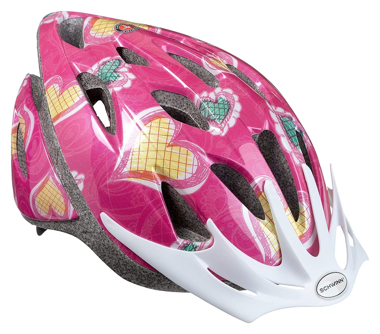 Schwinn Thrasher Girls' Lightweight Microshell Bicycle Helmet w/ Dial-Fit  Adjustment (Pink/Hearts) $11 88 + Free S&H w/ Prime or orders $25+ ~ Amazon