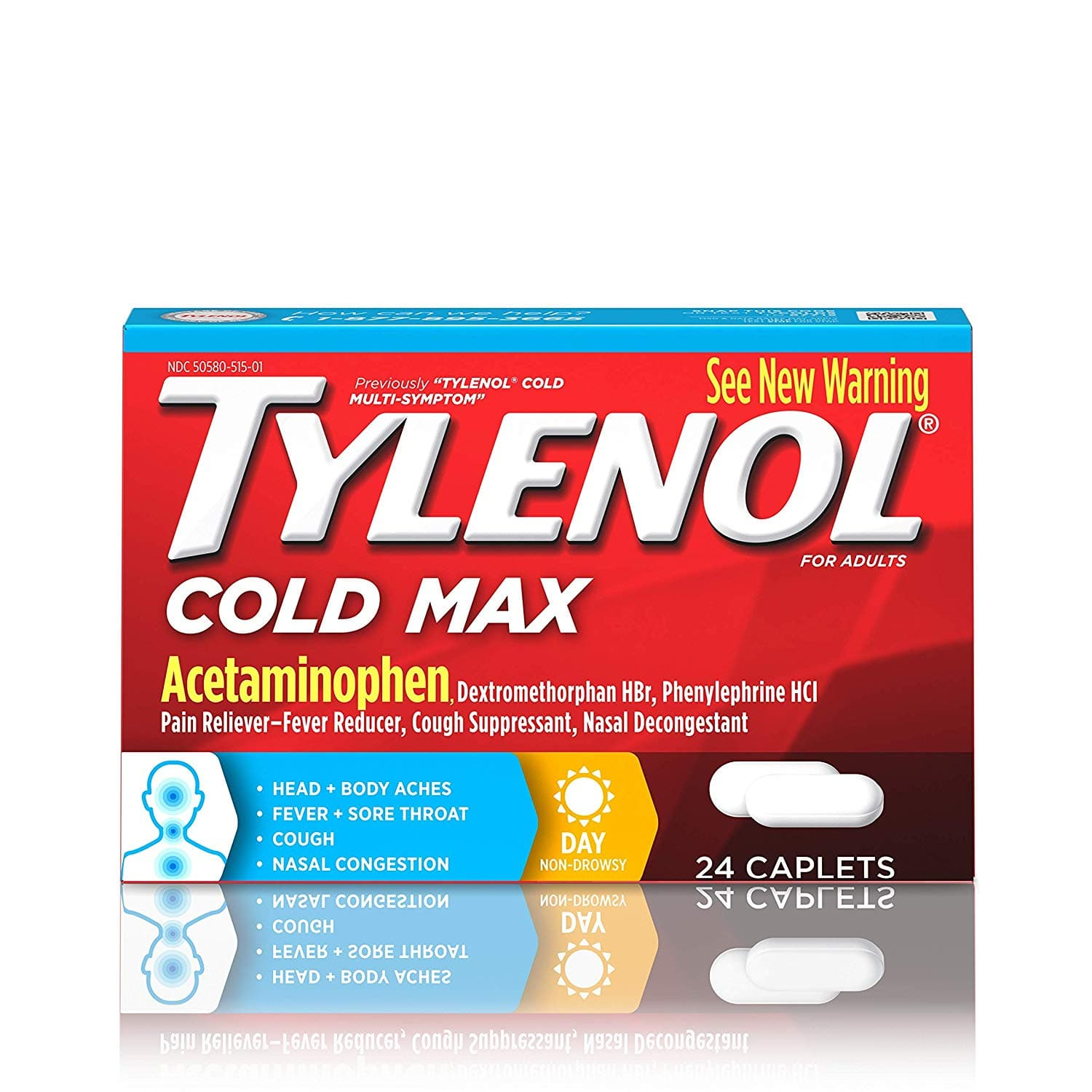 24 Count, Tylenol Cold Max Daytime Caplets - $1.50 Amazon Prime