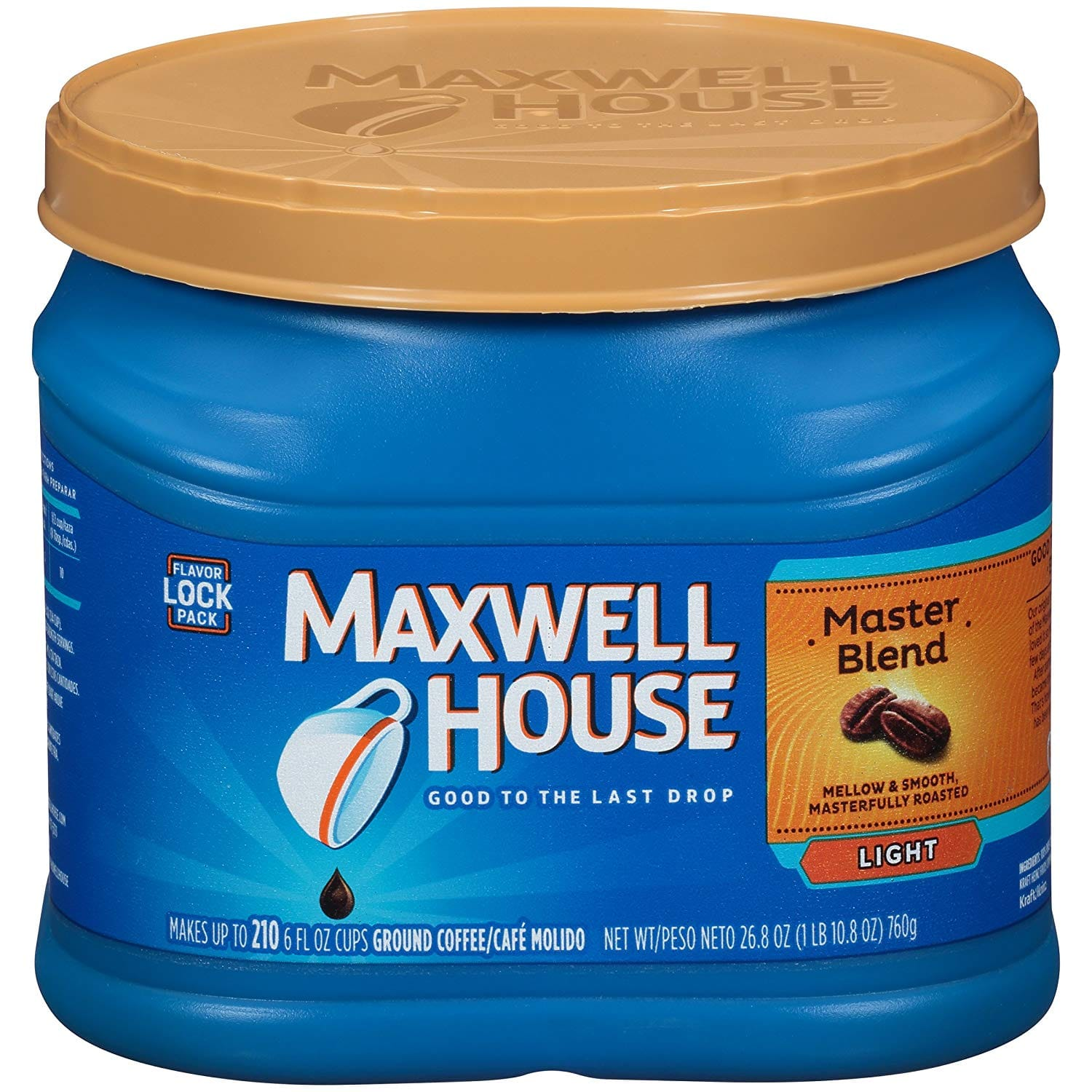 26.8oz Maxwell House Master Blend Ground Coffee (Light Roast) $4.46 or Less w/ S&S + Free S&H ~ Amazon