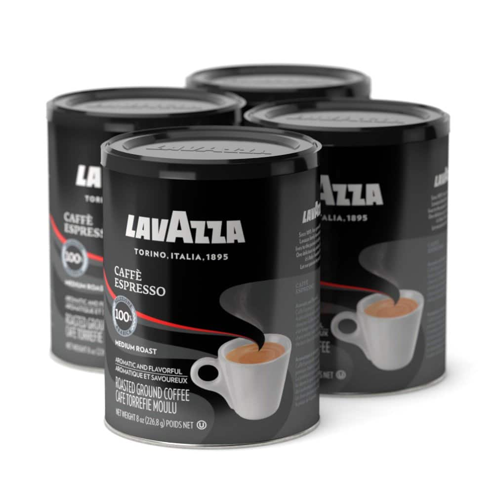 4-Pack of 8oz Lavazza Caffe Espresso Ground Coffee Blend (Medium Roast) $13.85 or Less w/ S&S + Free Shipping ~ Amazon