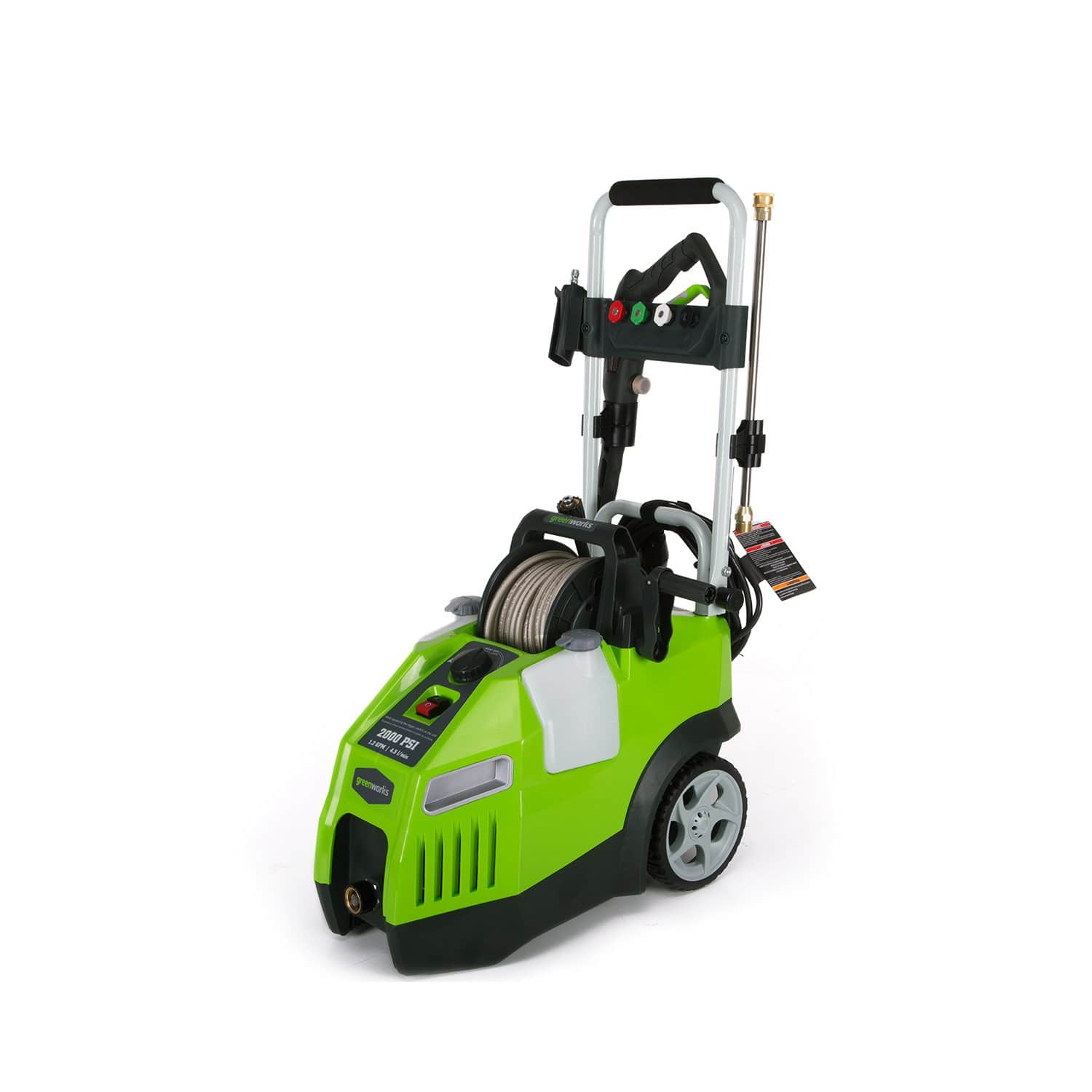 Greenworks 13-Amp 2000 PSI 1.2 GPM Electric Pressure Washer w/ Hose Reel $84.64 + Free Shipping ~ Amazon