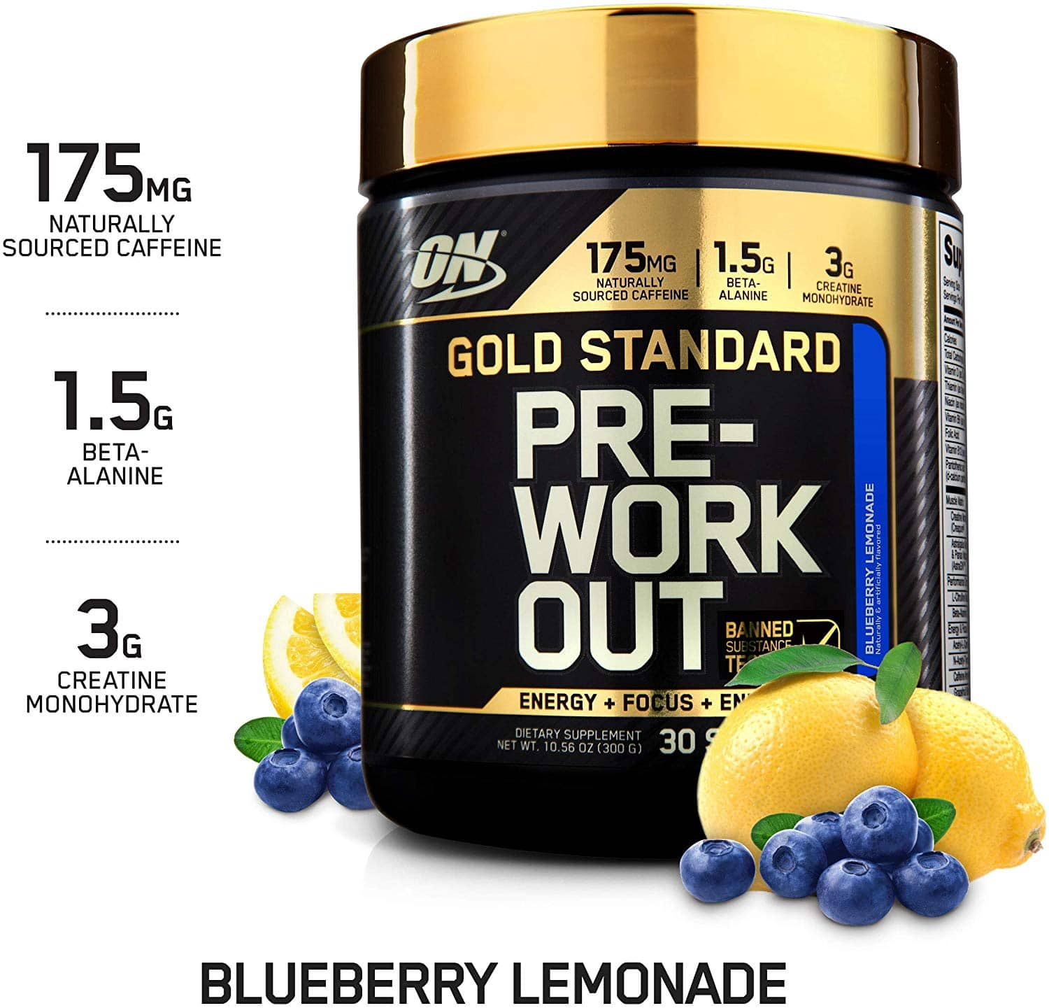 30-Servings Optimum Nutrition Gold Standard Pre-Workout (Blueberry Lemonade or Green Apple) $10.36 or Less w/ S&S + Free S&H ~ Amazon