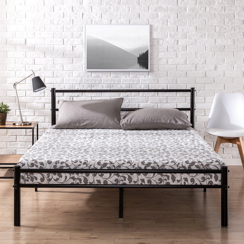 "Zinus Geraldine 12"" Black Metal Platform Bed Frame w/ Headboard & Footboard: King $74.59, Queen $69.54, Full $58.67 + Free Shipping ~ Amazon"