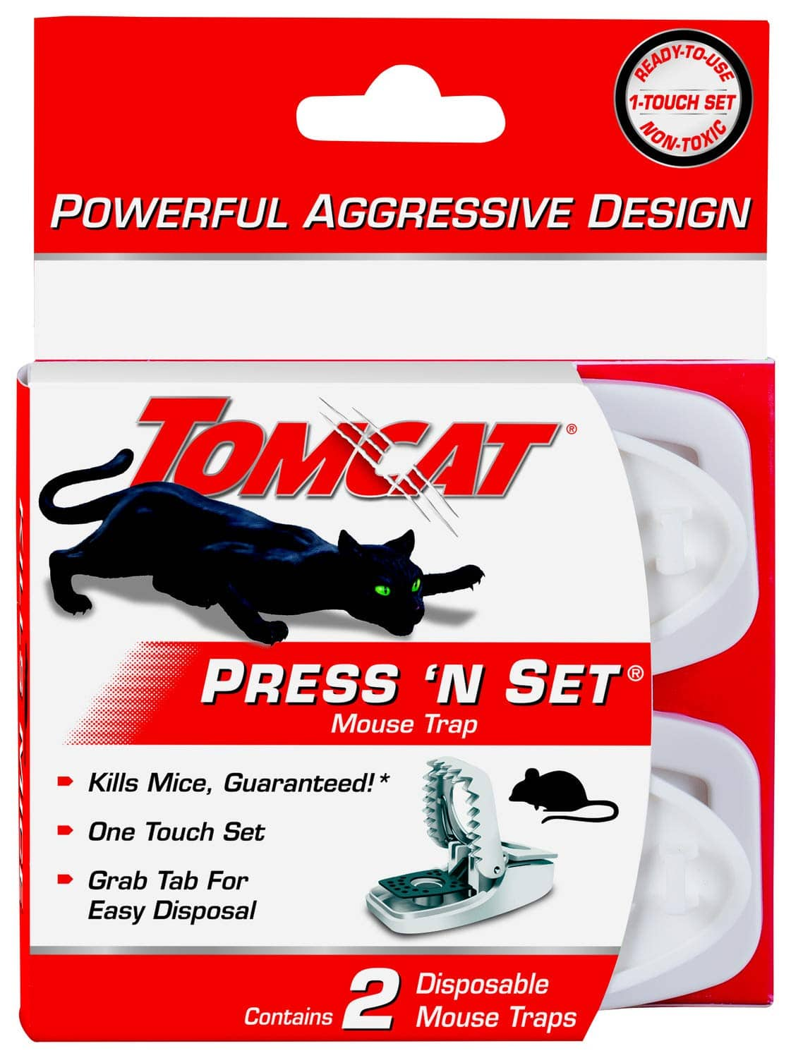 2-Pack Tomcat Press 'N Set Mouse Trap