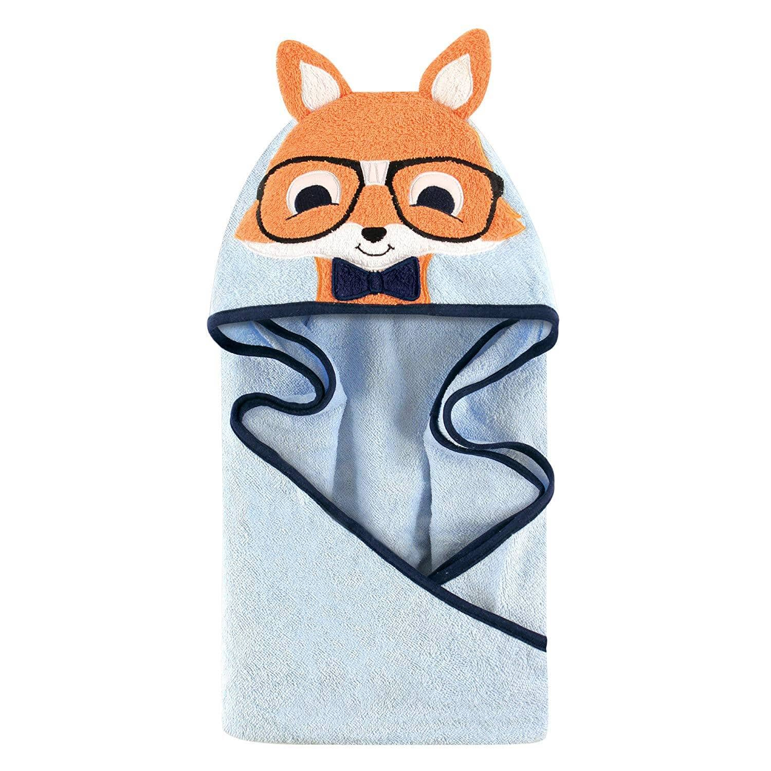 "Hudson Baby Animal 33""x33"" Hooded Towel (Nerdy Fox) $4.67 + Free S&H w/ Prime or orders $25+  ~ Amazon"