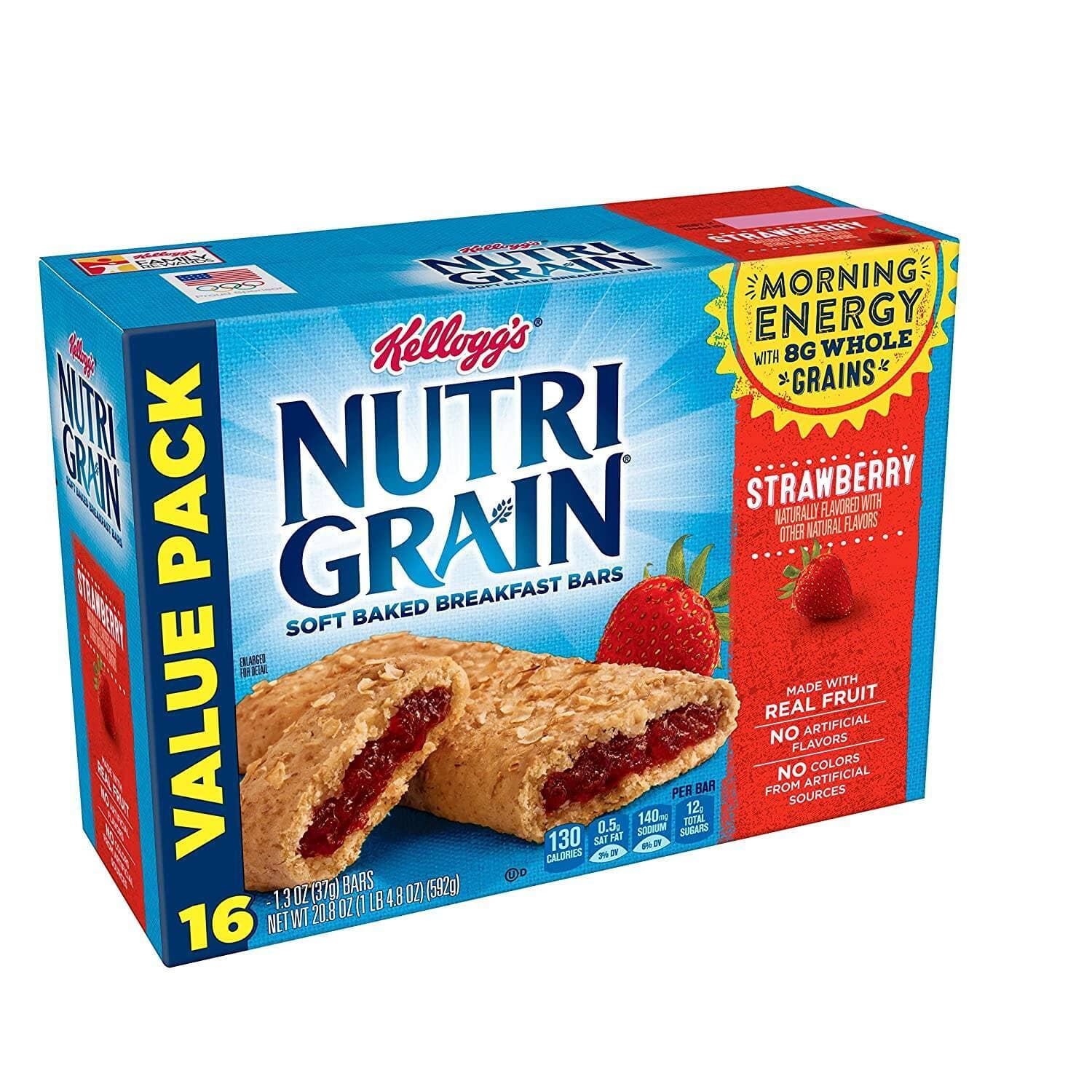 3-Pack of 16-Count Kellogg's Nutri-Grain Breakfast Bars (Strawberry) $8.89 w/ S&S + Free Shipping w/ Prime or $25+ ~ Amazon