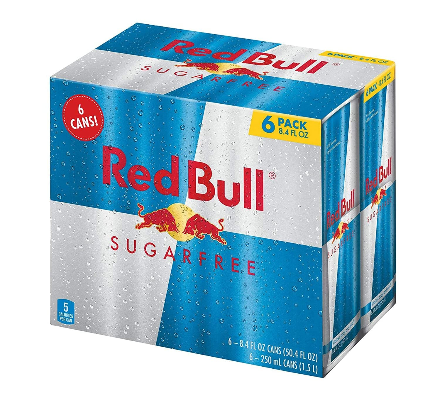 6-Pack of 8.4oz Red Bull Sugar Free Energy Drink $6.26 w/ S&S + Free S&H w/ Prime or orders $25+ ~ Amazon