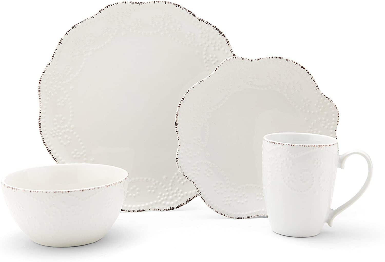 16-Piece Pfaltzgraff Everly Stoneware Dinnerware Set (Service for 4) $39.99 + Free Shipping ~ Macy's