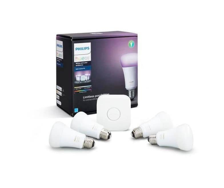 Philips Hue Color Starter Kit $200 w/ $40 gift card