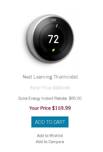 Duke Energy NC Customers - Discount on Google Nest. $159.99