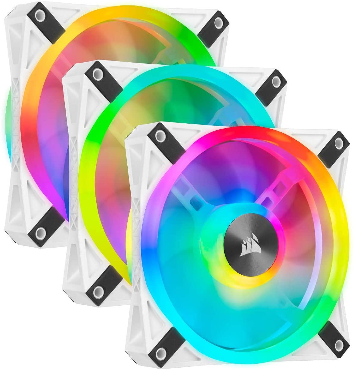 Corsair QL Series, iCUE QL120 RGB, 120mm RGB LED PWM White Fan, Triple Fan Kit with Lighting Node Core $105.99 normally $139.99(save $34.00 24% off)