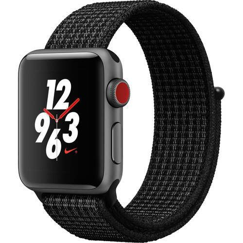 Apple Watch Nike+ Series 3 38mm Smartwatch (GPS + Cellular, Space Gray Aluminum Case, Black/Pure Platinum Nike Sport Loop) $279