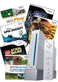 Wii console + 6 games $79.99 @ GS - Refurbished - Nintendo Wii Blast from the Past System Bundle