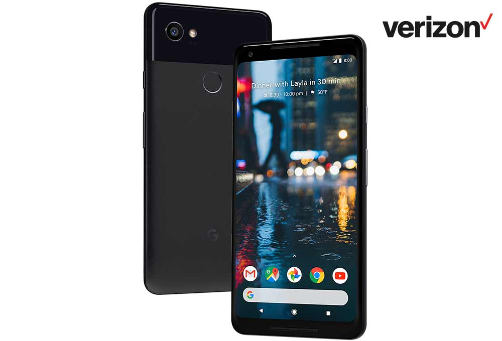Verizon Google Pixel 2 XL Save $400 ($200 instant + $200 BC) $449.84
