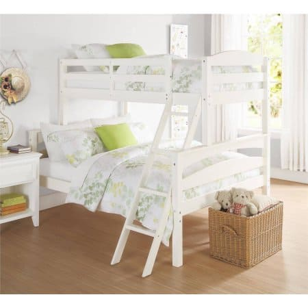 Better Homes and Gardens Leighton Twin-Over-Full Bunk Bed White is $89 Marked Down From $275 FS