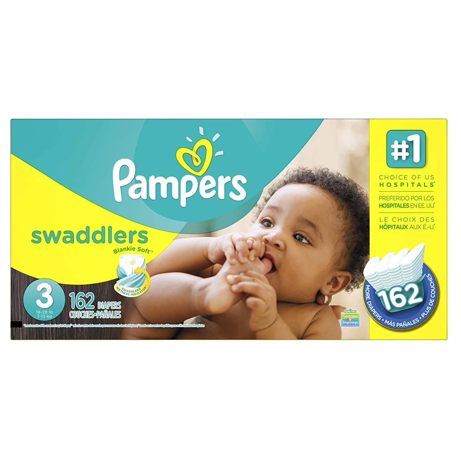 Amazon Prime Family Members: Pampers Swaddlers - $2 off Coupon + 20% Off w/ S&S