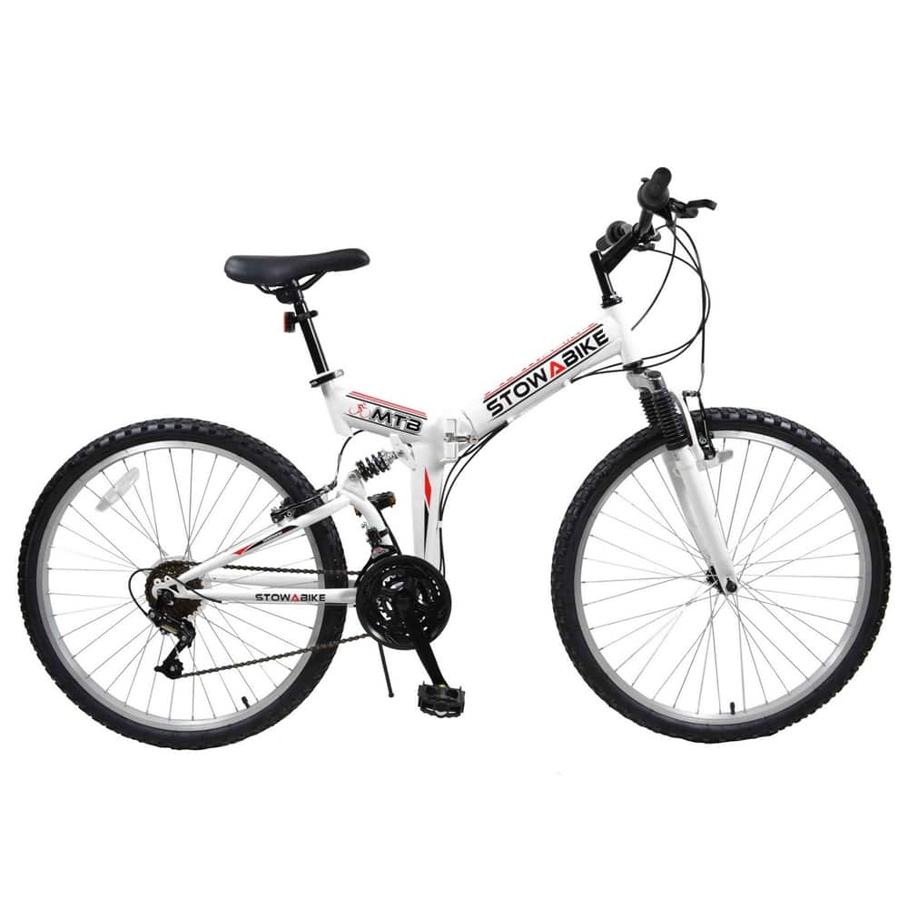 "Stowabike 26"" MTB V2 Folding Dual Suspension 18 Speed Shimano Gear Mountain Bike $95.99 F/S"