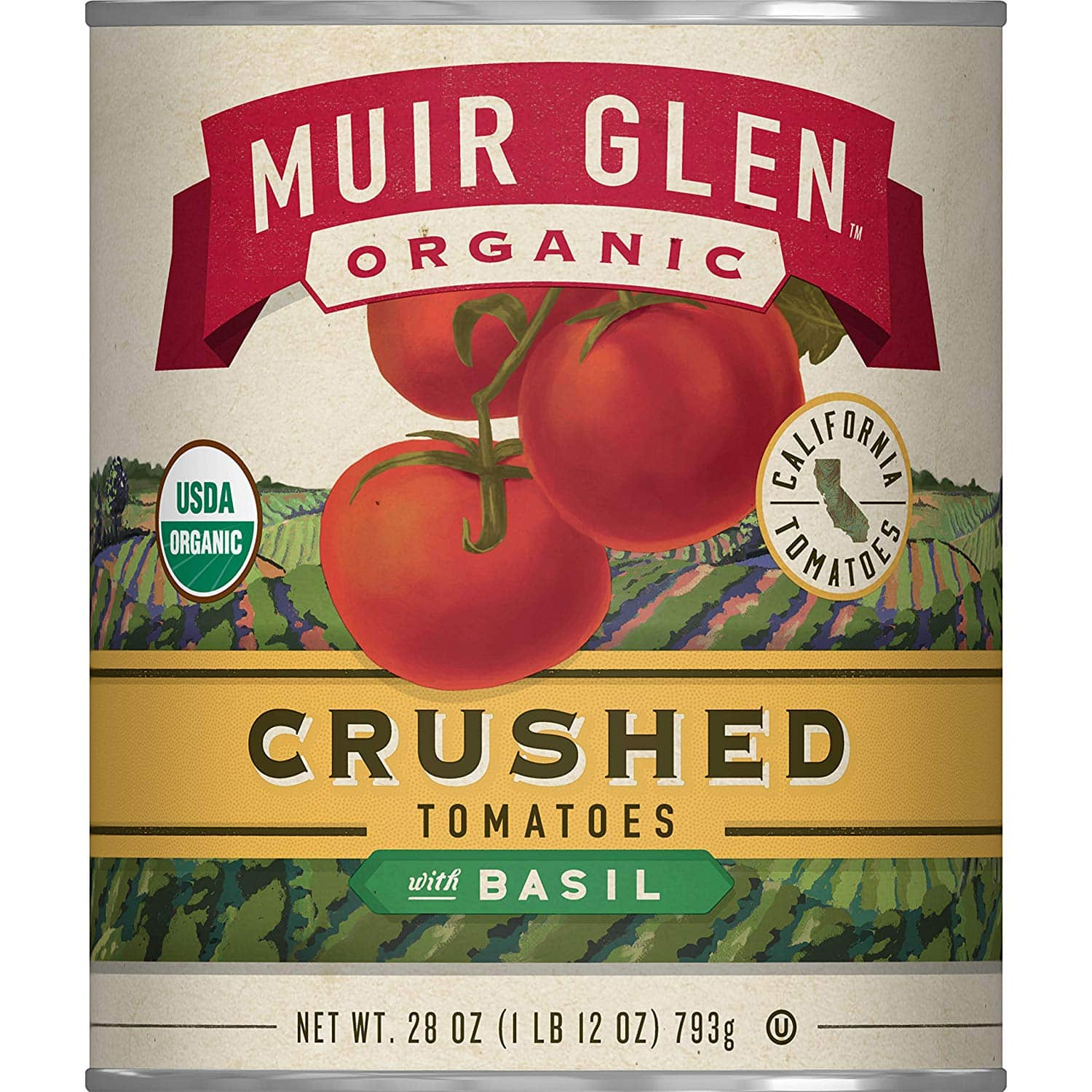 Muir Glen Crushed Tomatoes 28oz can (Pack of 12) - $17.16 after 15% S&S and $5.28 coupon