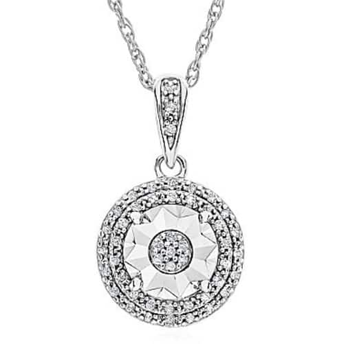 1/10 CT diamond pendant Necklace OR diamond stud earring for only $20!
